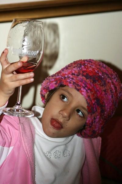 Tasting grape juice