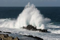 Storms river waves